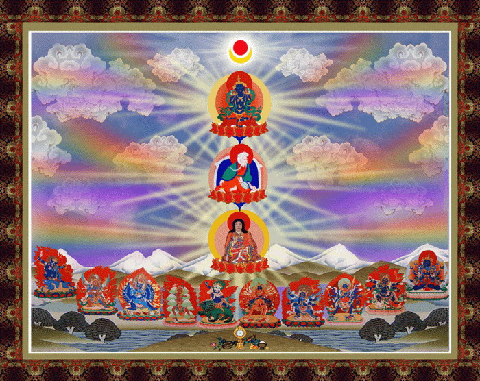 第三世多杰羌佛说法 极圣解脱大手印