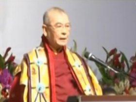 世界电视专题报道2011年世界佛教大会公布第三世多杰羌佛降世